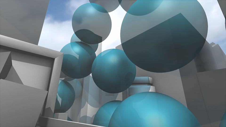 10 metre (33 ft) spheres of carbon dioxide gas emerge at a rate of one every 0.58 seconds