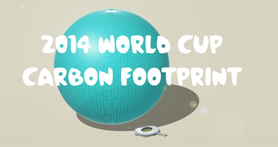 The carbon footprint of the World Cup: 2,723,756 tonnes CO 2 . A 'football' 1,406 metres diameter.