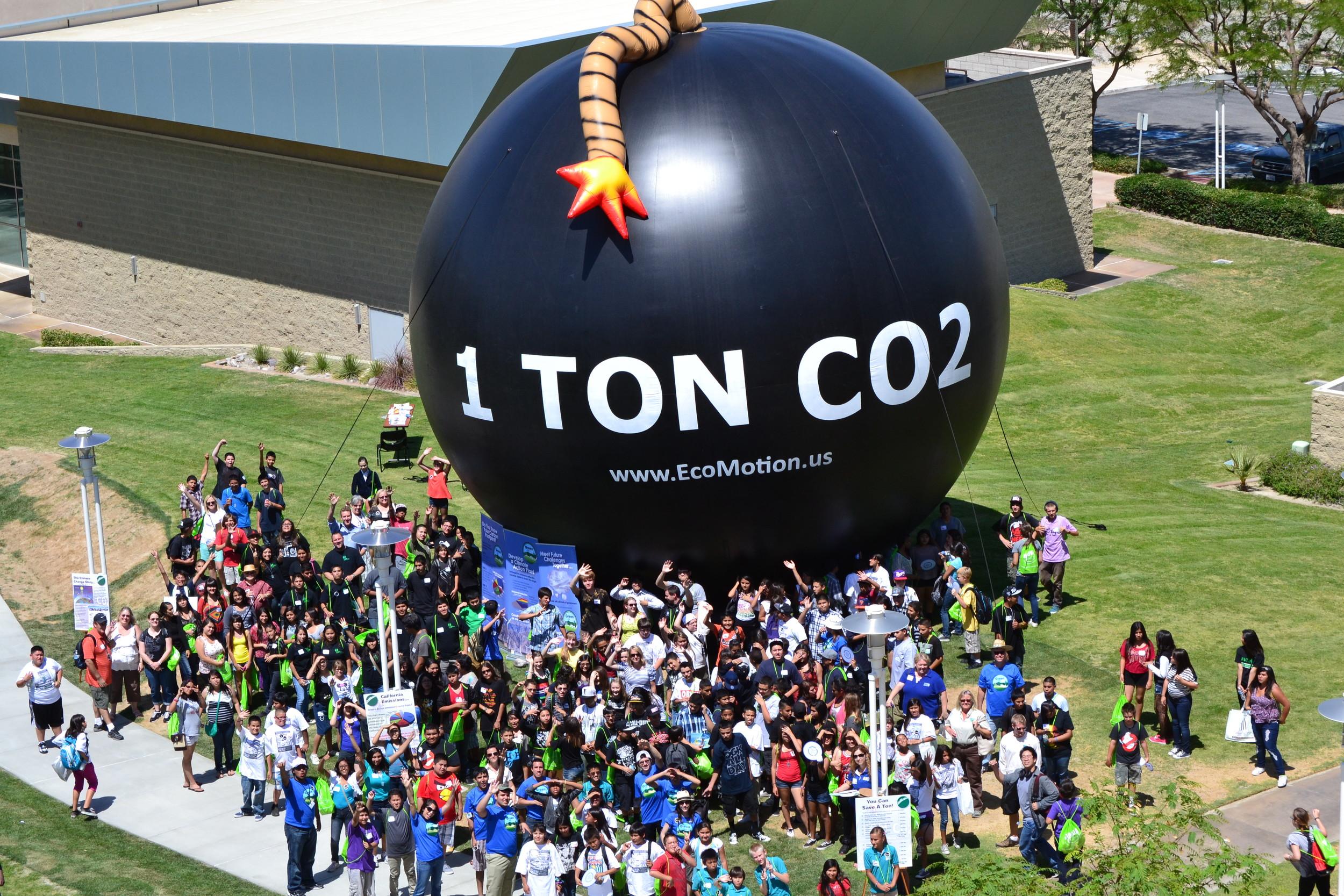 THE Ton at an environmental expo in Palm Desert, California