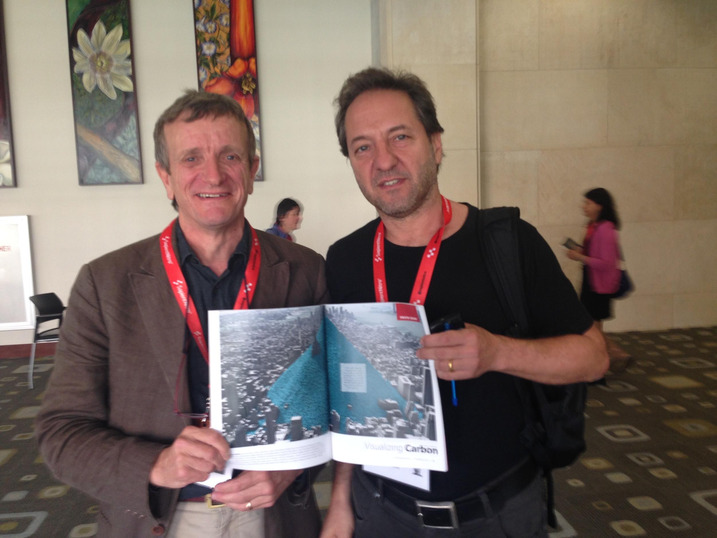 Antony Turner and Jo Confino at SXSW Eco