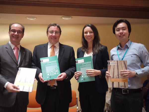 Janet Salem with colleagues, including UNEP Executive Director Achim Steiner