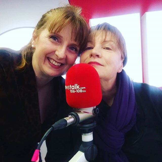 Meself and herself giving good Mic this morning on @newstalkfm in advance if our concert next Friday February 15th at 1pm in @nationalconcerthall entitled ROMANZA - A Valentine's Celebration in Poetry and Song.  Such a treat and pleasure working with the beautiful actress Mary McEvoy, bass @molloyjohn76 and pianist David Wray.  Tickets from ☎️ 01-4170000 or 💻 www.nch.ie  #radio #newstalk #media #communications #actress #soprano #jerrysherwin #guysanddolls #mackandmabel #sandraoman #SandraOmanSoprano #libertiesgirl #librtiespeople #MichelLegrand #glenroe #biddy #lavieenrose #piaf #mackandmabel #concert #valentinesday #sopranolife #actress #puccini #mozart #eecummings #ezrapound #elizabethbarrettbrowning #poetry