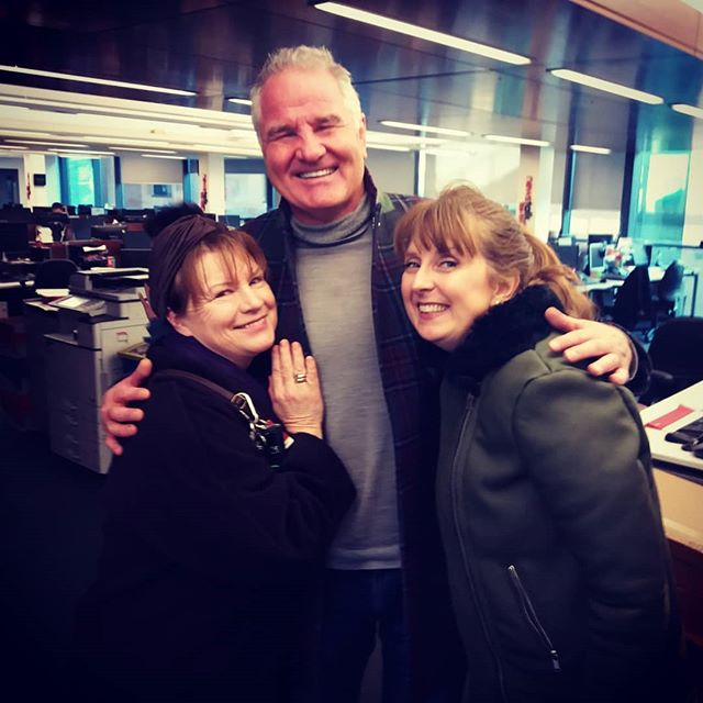 Two legends for the price of one!!! Acting legend Mary McEvoy (Biddy, Glenroe) and All-Blacks rugby legend Brent Pope.  We were on NEWSTALK @newstalkfm this morning in advance of our concert next Friday February 15th at 1pm @nationalconcerthall ROMANZA A Valentine's Celebration in Poetry and Song.  A beautiful meditation on love with poems from #wbyeats #elizabethbarrettbrowning #eecummings and songs from #puccini #mozart #piaf #mackandmabel #gershwin  #concert #radio #rugby #allblacks #rugbylegends #opera #classicalmusic #poetry #communications #actress #soprano #bass #music