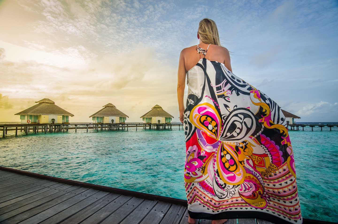 The Annie from Mersur in Fuscia Magic in the Maldives. Photos courtesy of Getting Stamped.
