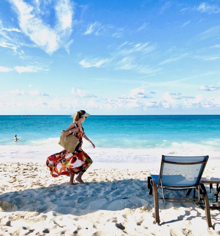 Joanna bumming around Bimini, Bahamas in the Lana from Mersur.