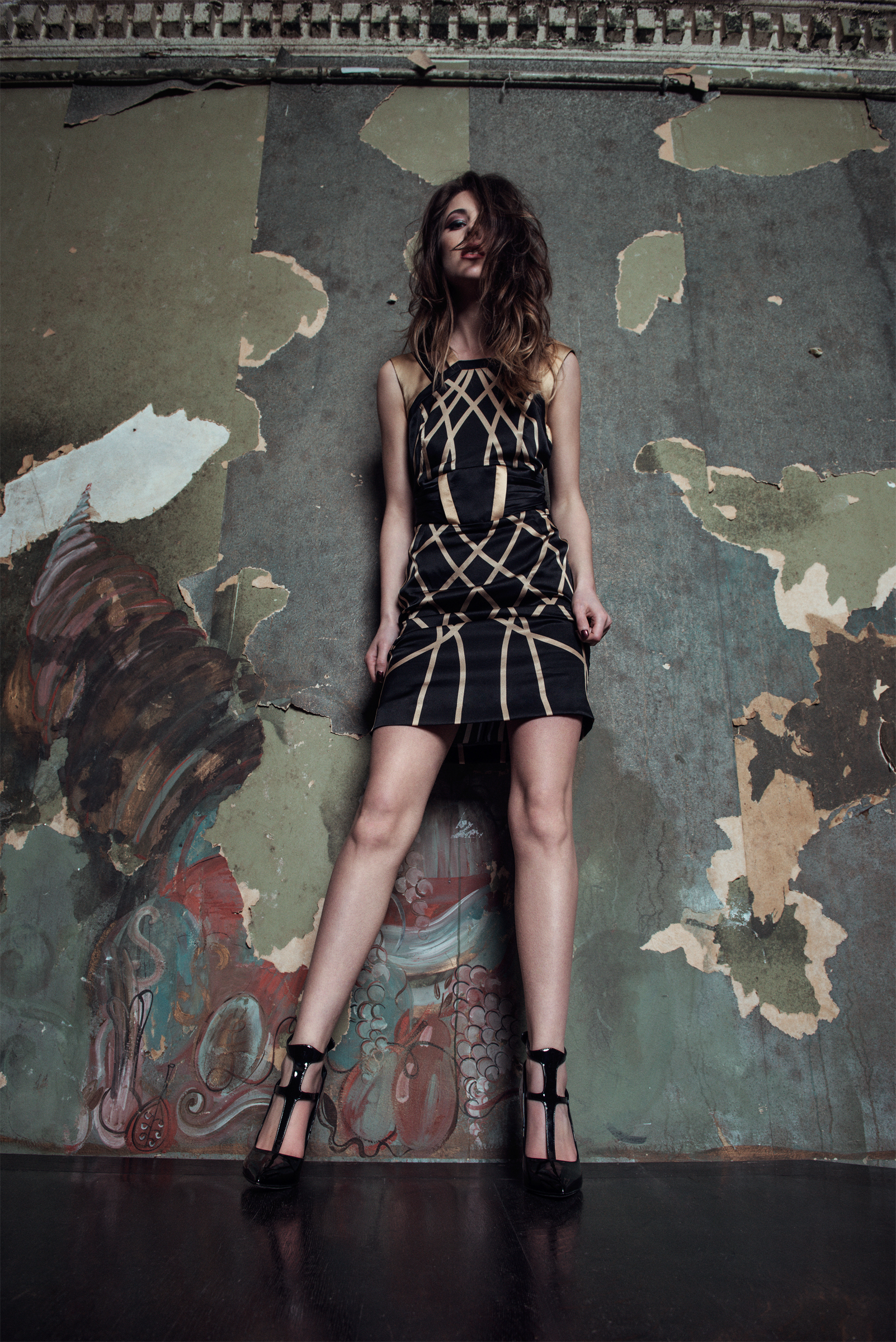 Dress: Danille Bardis; Shoes: Gianmarco Lorenzi