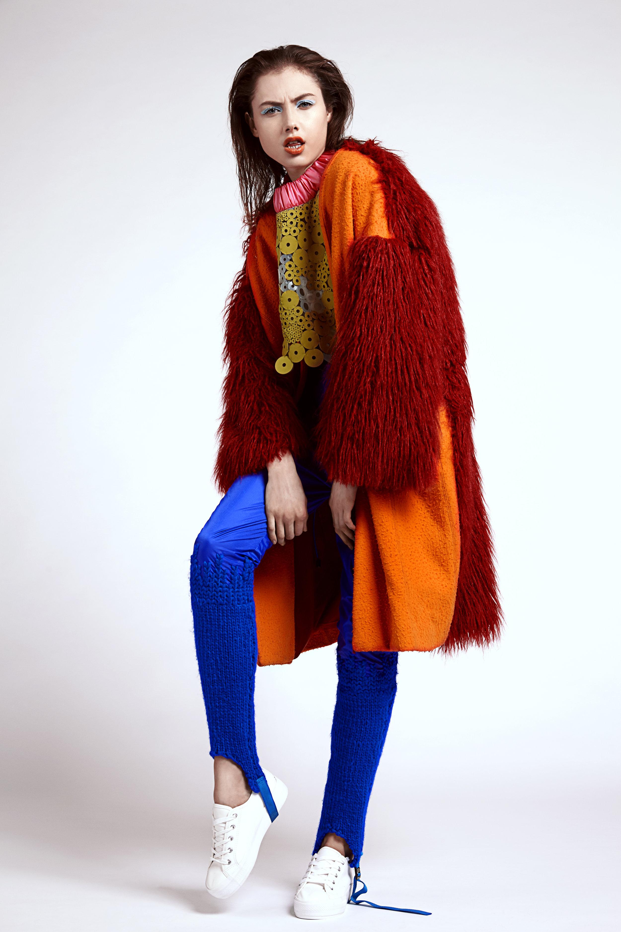 Top  Nataliya Brady , Coat  Jade Davies ,Trousers  Pippa Harris ,Shoes  New Look