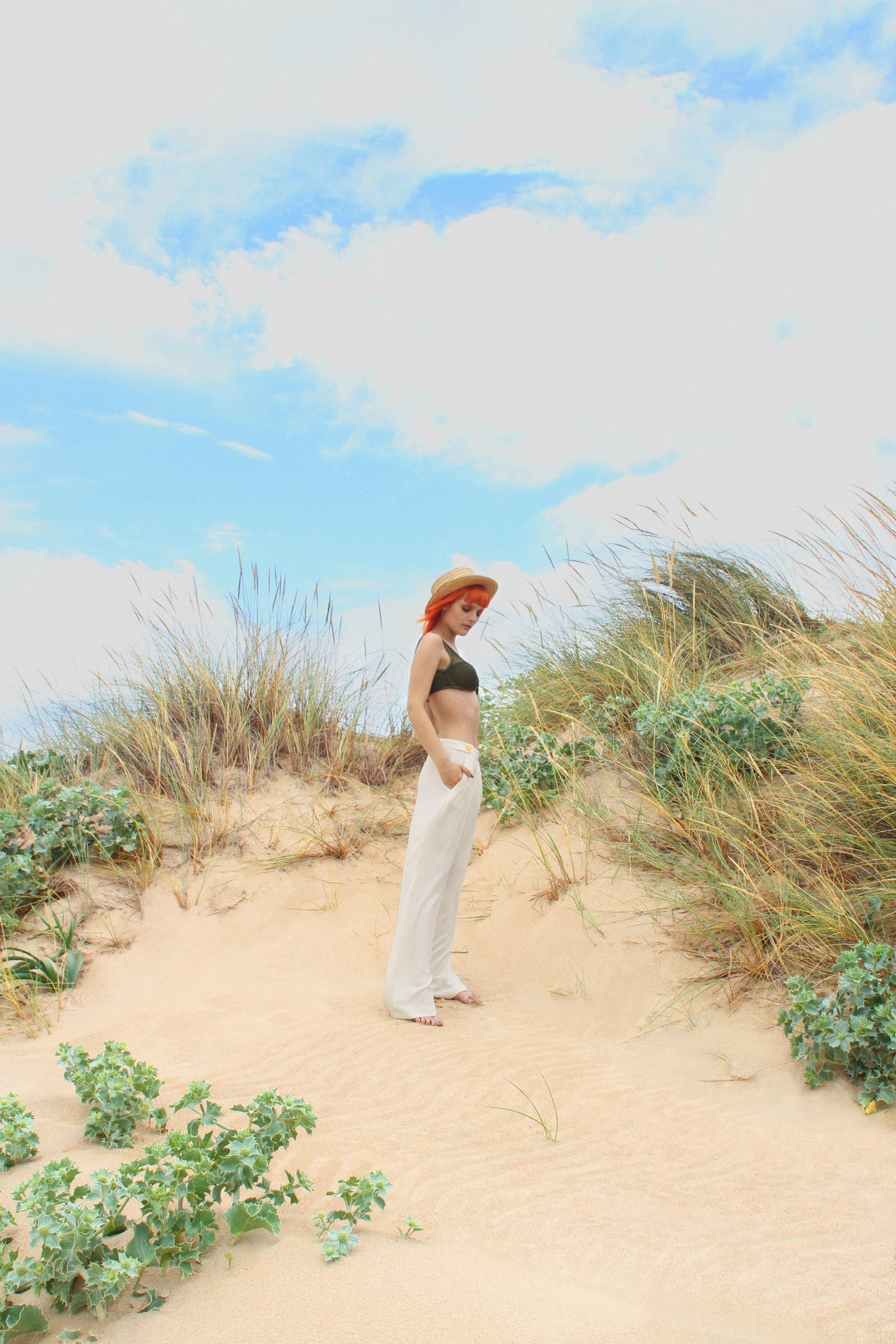 Bikini top Maria Martinez, Trousers Primark, Hat Stylit's Own