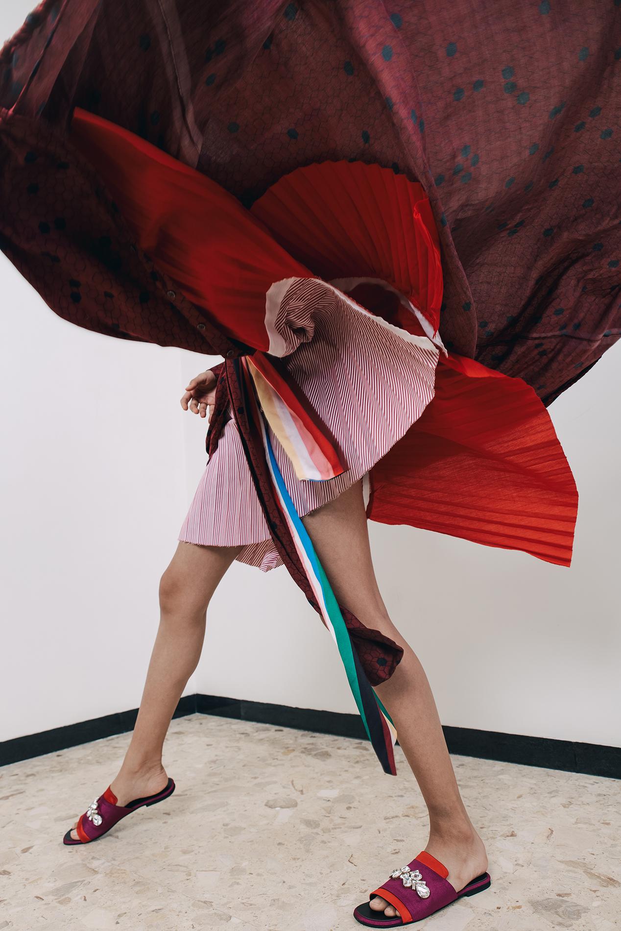 Top – HERA BY AJ Dress – CHOLA Skirt – MADISON Earring – LARA MORAKHIA Footwear – THE HEEL HUSTLE