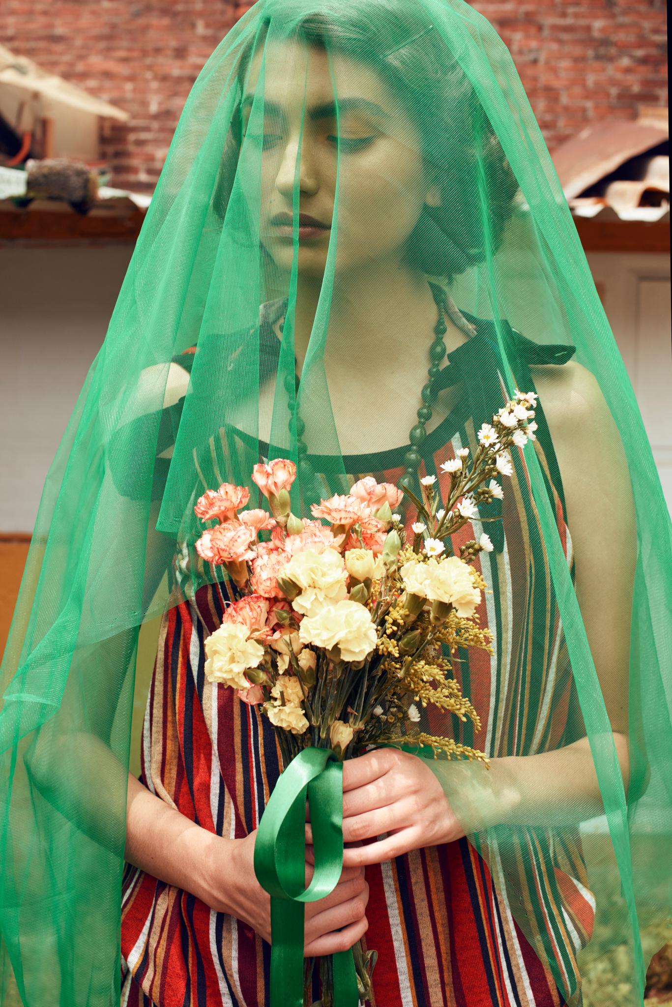 Xiomara wearing  Dress - M. , Stockings - H&M , Shoes - Zara