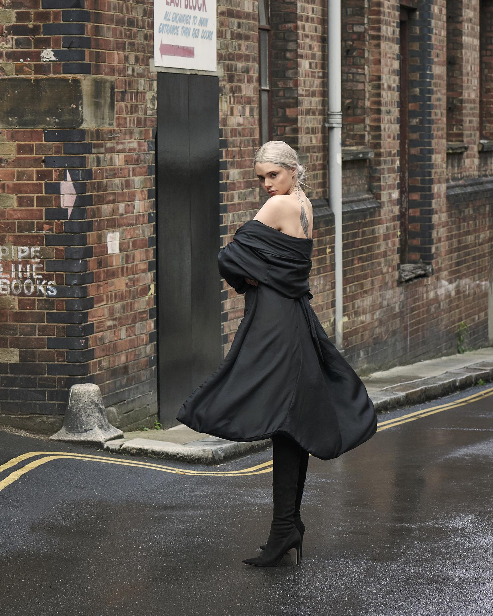 Coat  Katharine Hamnett   Boots  Sergio Rossi