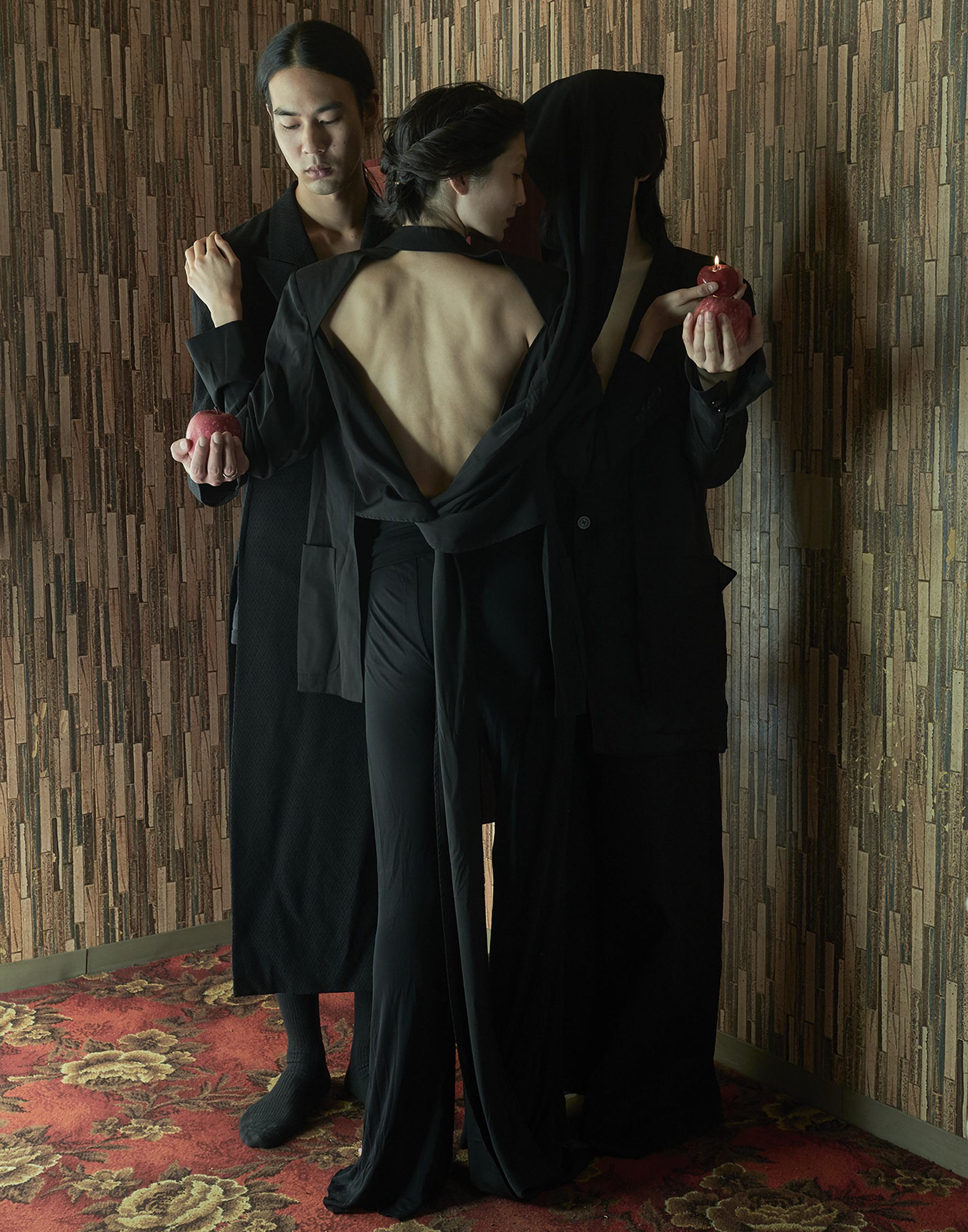 Man Coat  Yohji yamamoto   Woman Jacket  Jean paul Gaultier