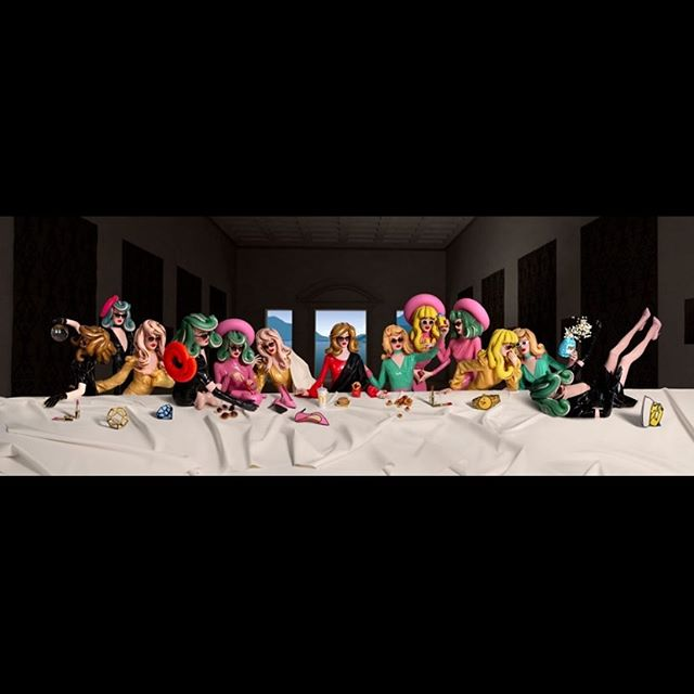 The last supper collaboration work our founder @pedromatosphoto did with the amazing @therealpandemonia 🎈it's showing in @blacksclub and the image print is for sale on a limited edition please contact @runwaygallery  #contemporaryart #art #lastsupper #pedromatosphotography #therealpandemonia #fineartphotography #print #macdonalds🍟