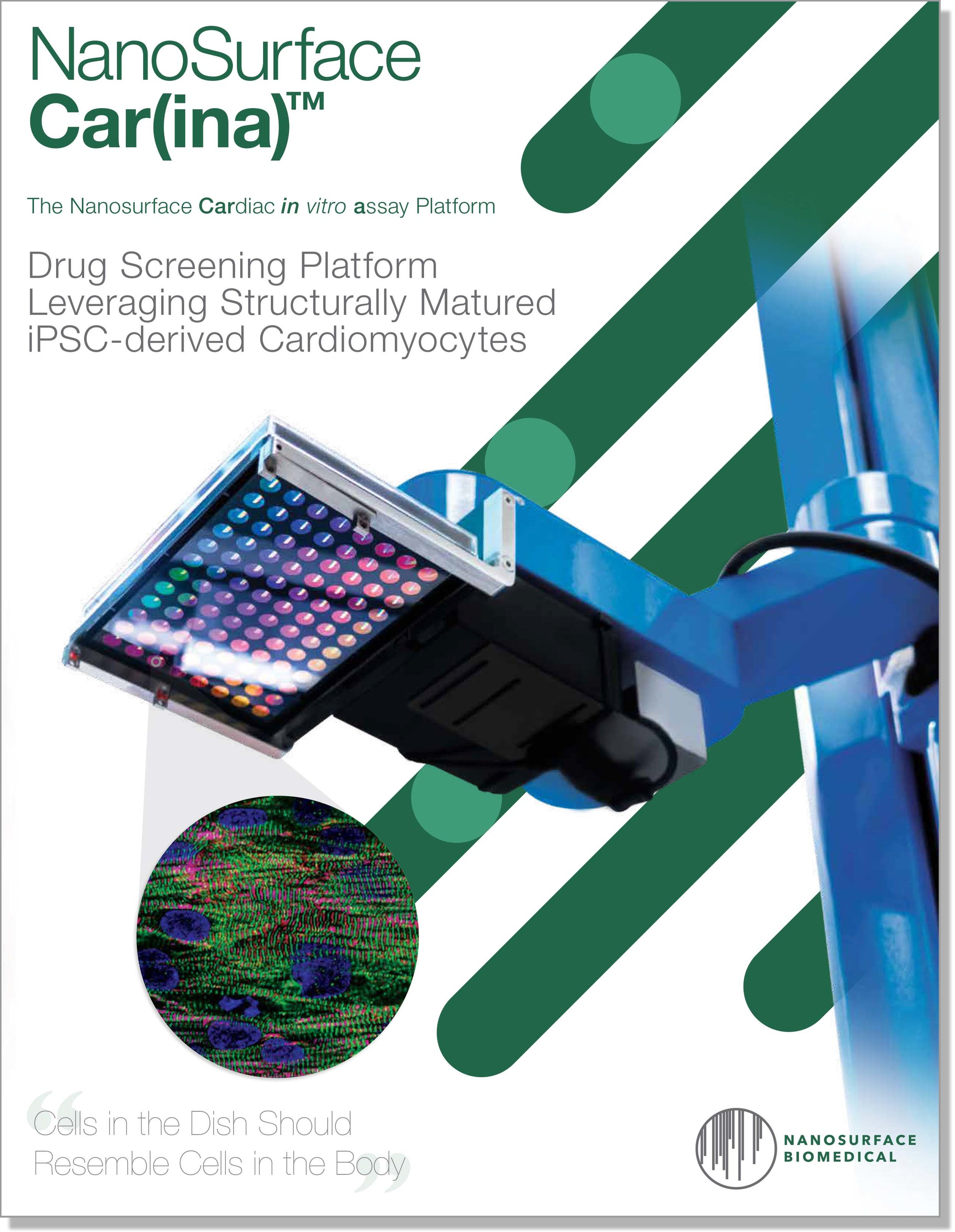 NanoSurface Car(ina) Platform Launch Brochure - Download the NanoSurface Car(ina) platform brochure for information about the platform in a convenient PDF format. For additional information, please contact support@nanosurfacebio.com.
