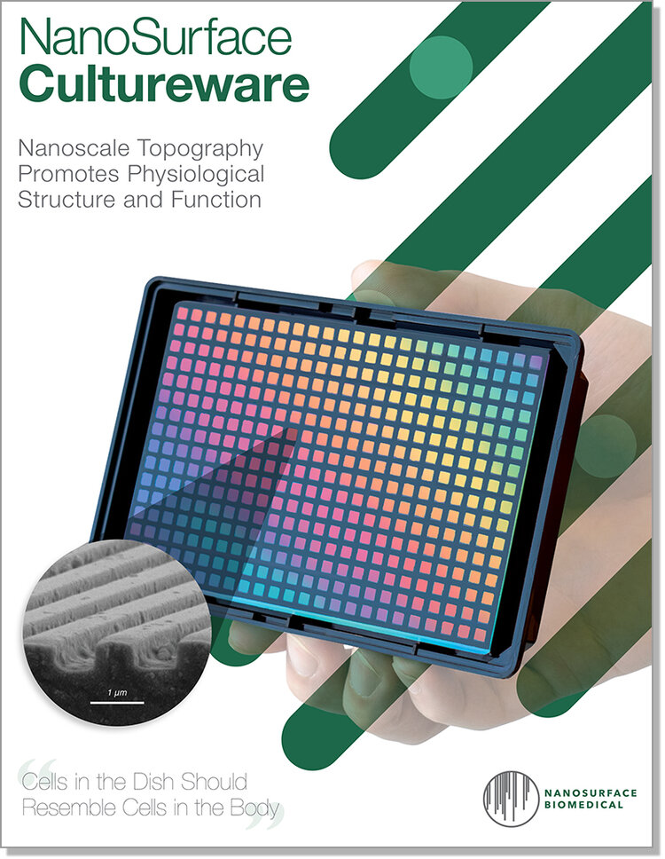 NanoSurface Cultureware Brochure - Download the NanoSurface Cultureware product brochure for general information on cultureware products offered in a convenient PDF format. For additional information, please contact support@nanosurfacebio.com.