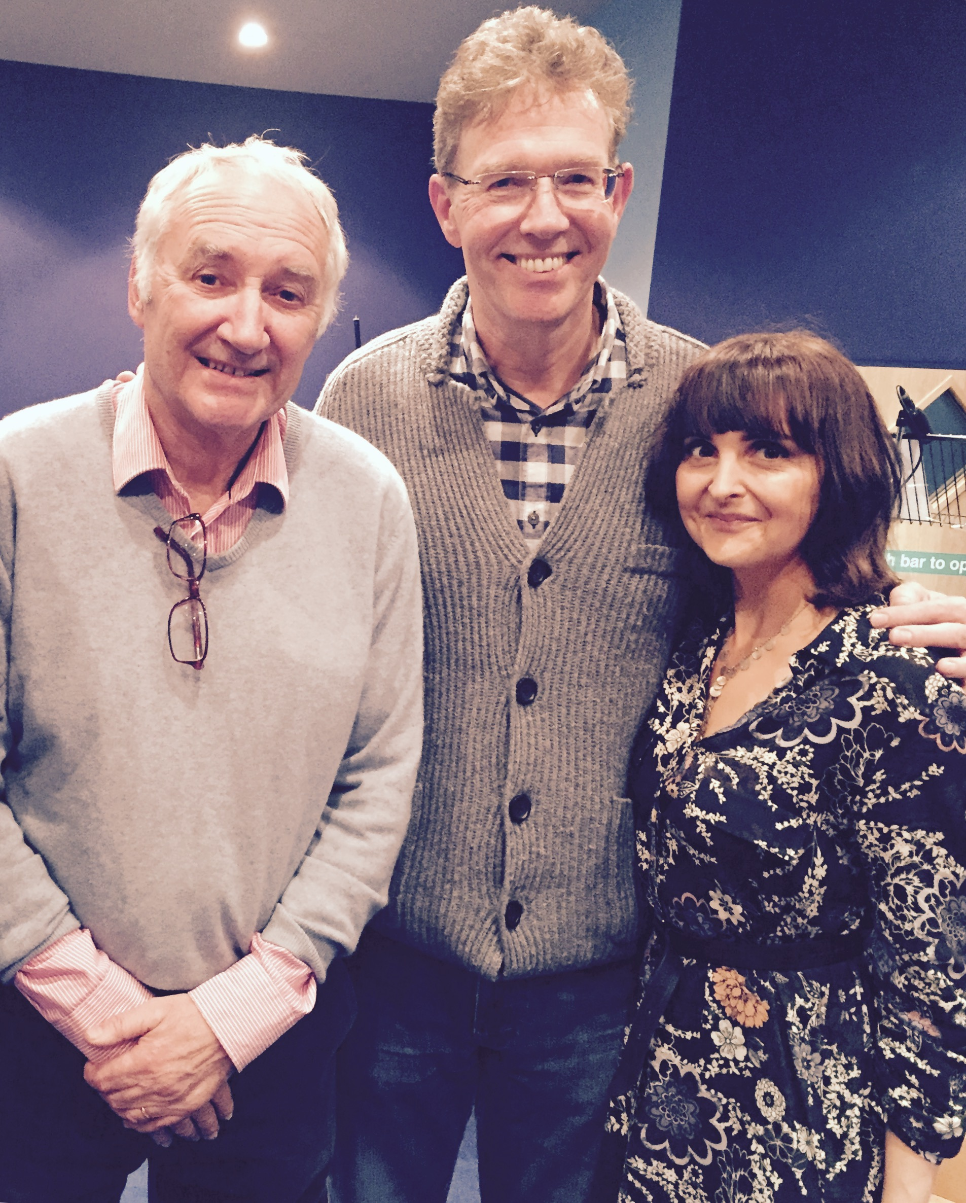 Photo taken with Michael Keating (Vila) and Stephen Pacey (Tarrant). Big Finish Audio Blakes7.