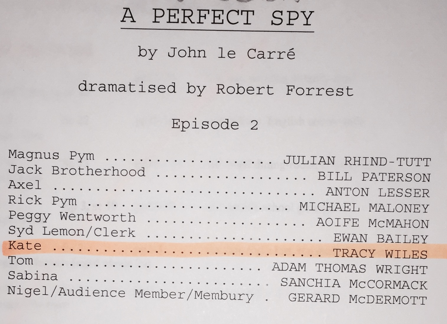 June 2017 - Two lovely radio jobs this month, my first Rumpole for Catherine bailey Productions and A Perfect Spy by John Le Carre.