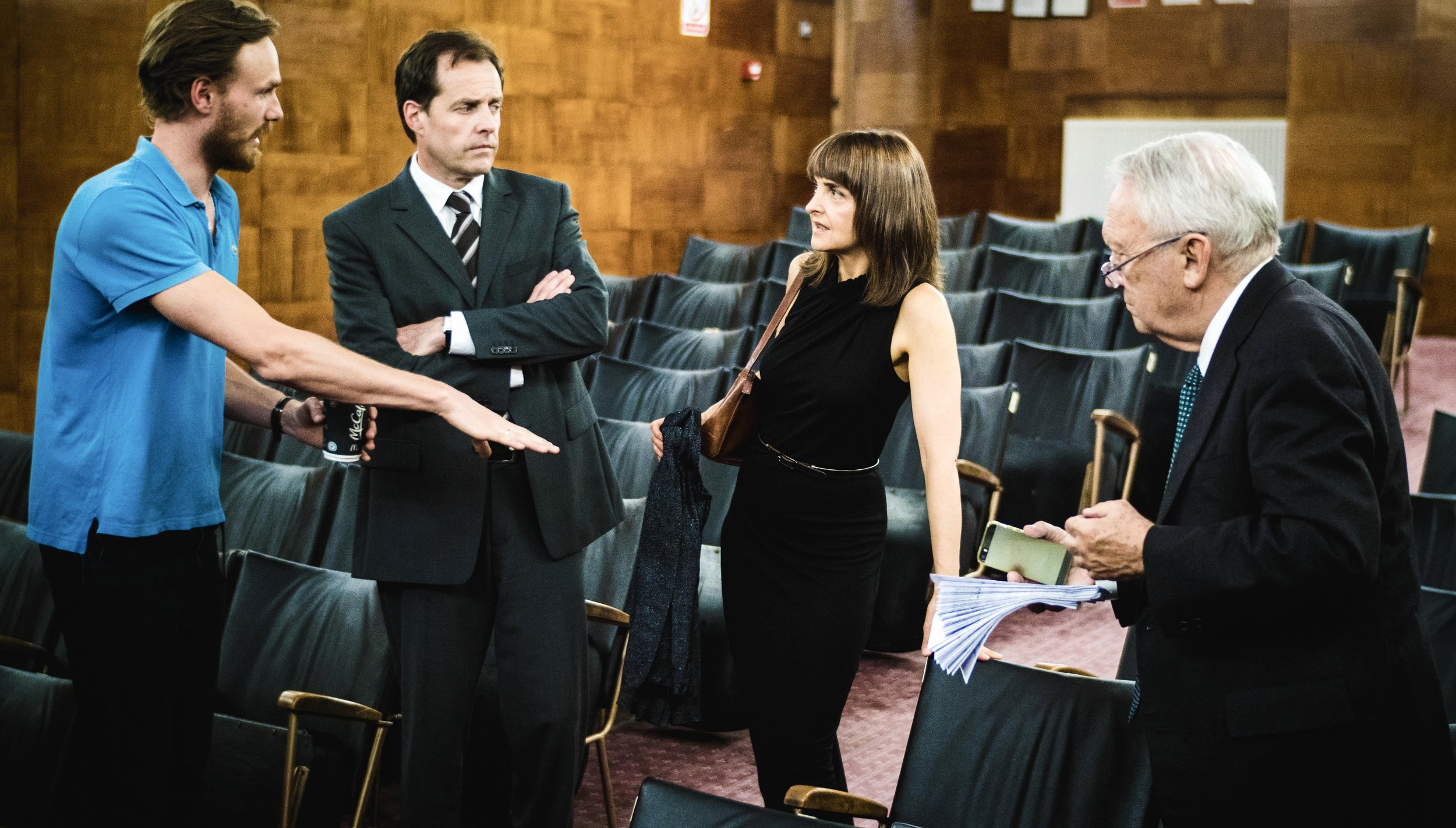 August 2017 - rehearsing a scene for short film, Courted, with Andres Heger-Bratterud, Nigel Anthony and Alastair Harvey.