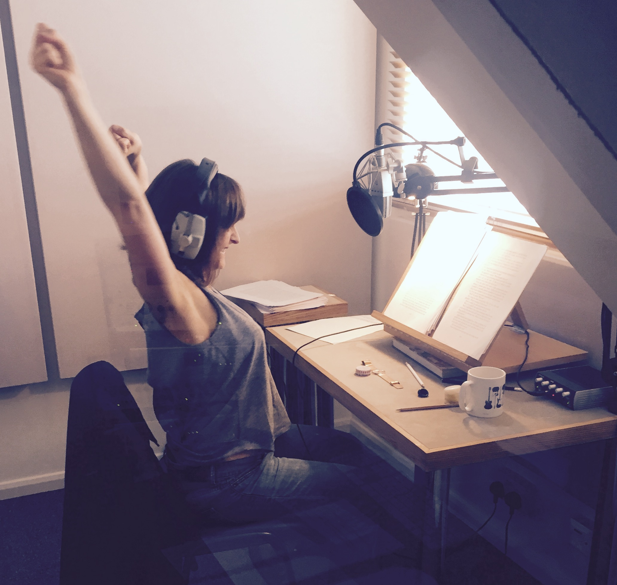 September - final day recording FAITH by Lesley Pearse for Penguin Books. Only 610 pages and 33 hours of recording.