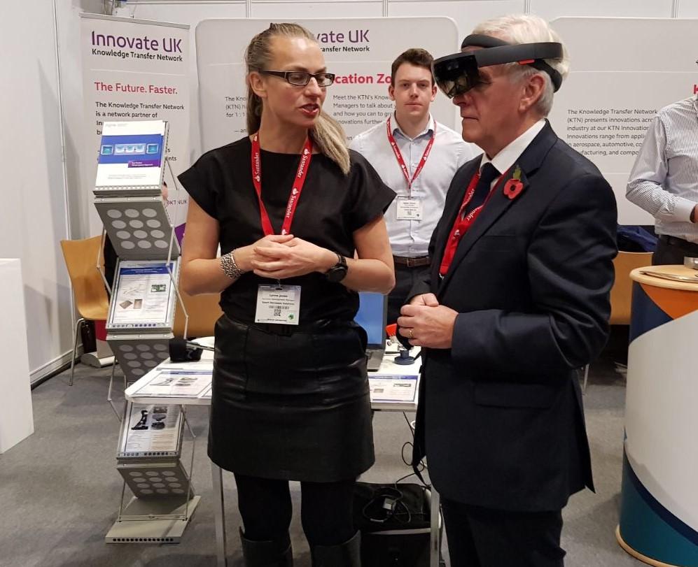 Lynne Jones, SmartDS Business Development Manager, presenting to John McDonnell Shadow Chancellor