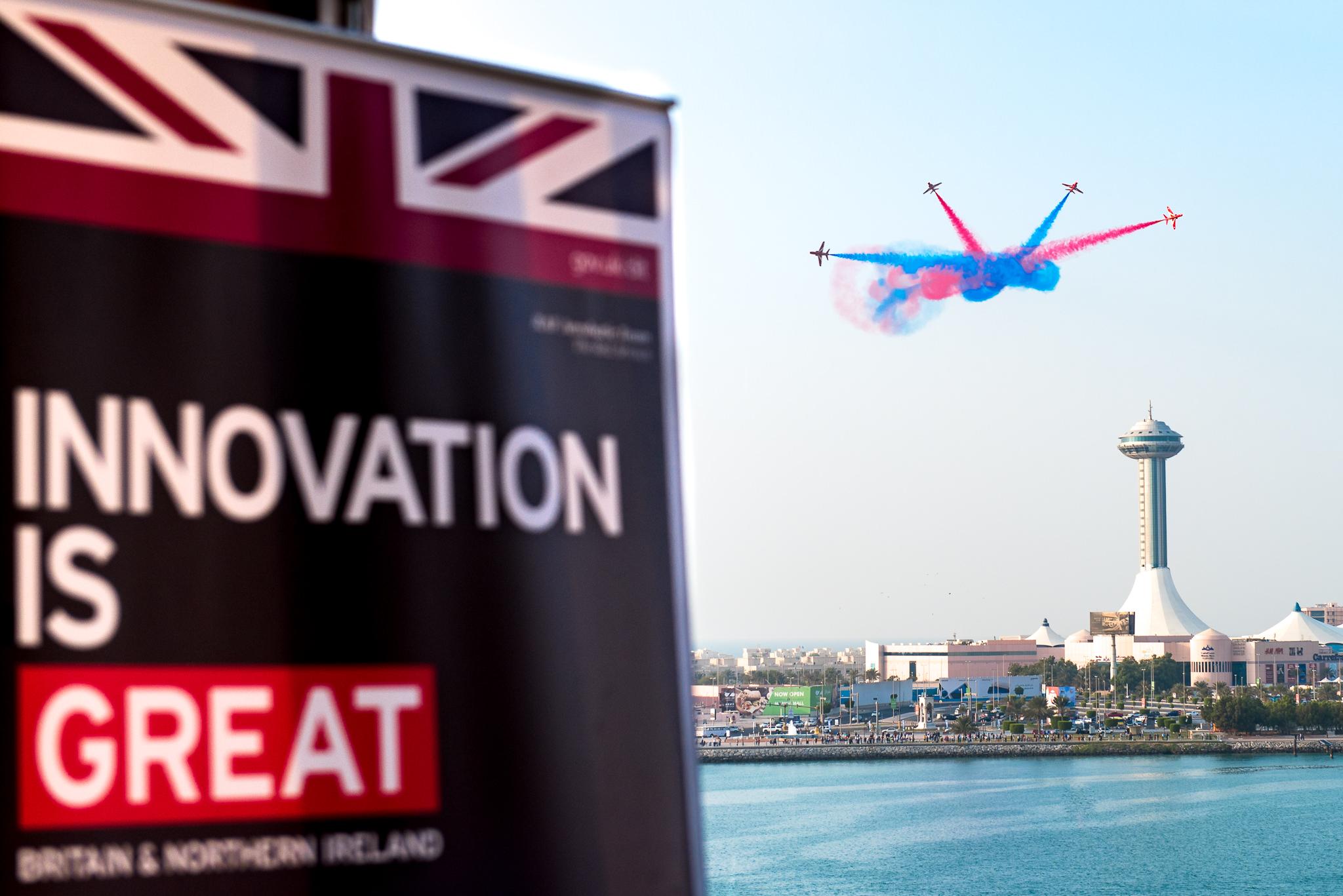 GREAT Campaign: RAF Red Arrows, Abu Dhabi
