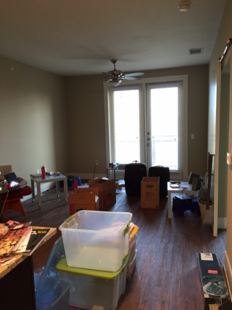 The movers haven't come and gone. This is all that's left.