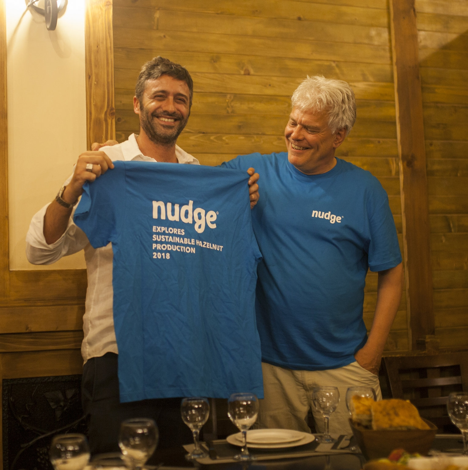 Federico Maria Grati (General Manager, AgriGeorgia) and Jan van Betten (Founder of Nudge)