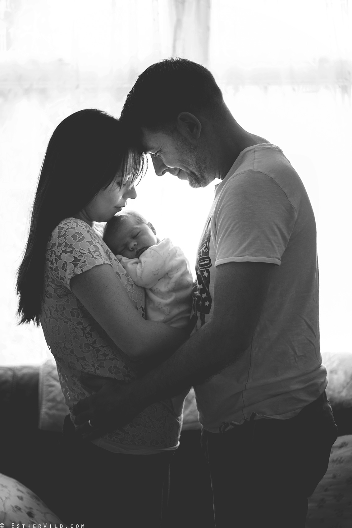 © Esther Wild Photographer, Newborn baby home photo session, natural light. Kings Lynn and West Norfolk, UK.