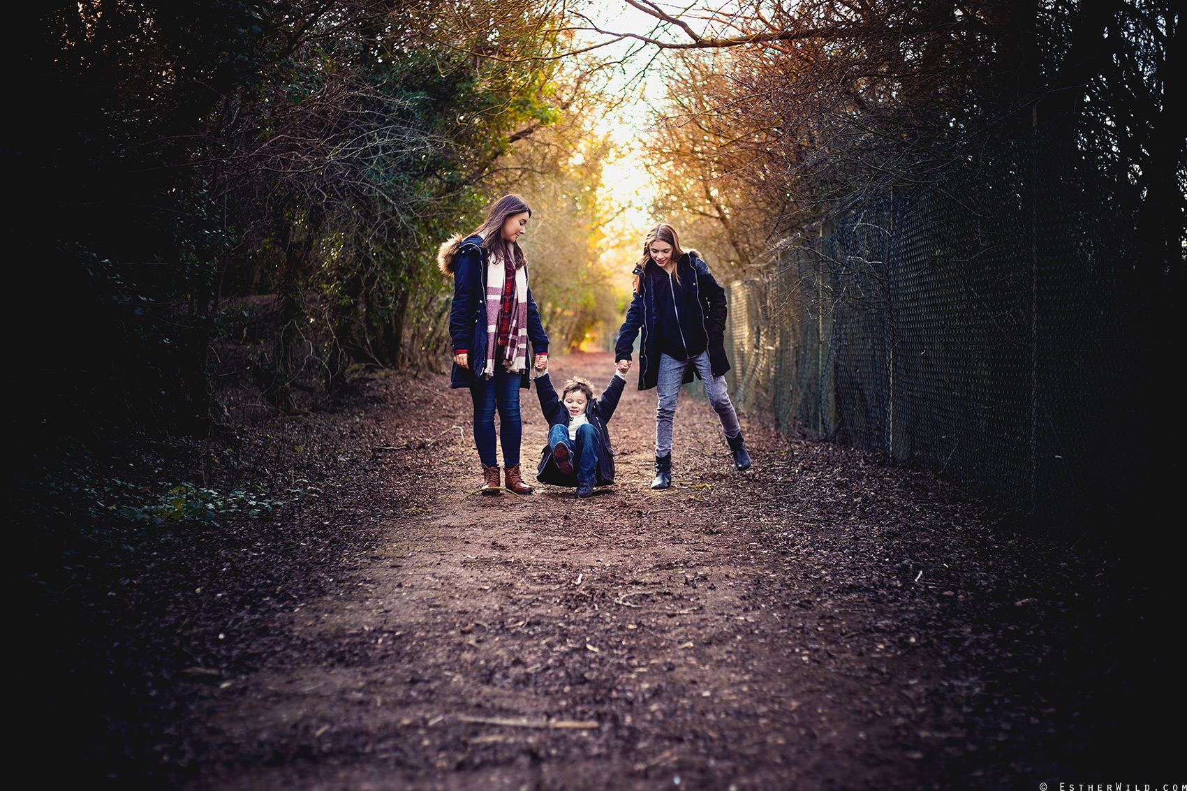 © Esther Wild Photographer, Family Portrait Session Outdoors in Woodland - Nature Reserve Stillwell Peterborough