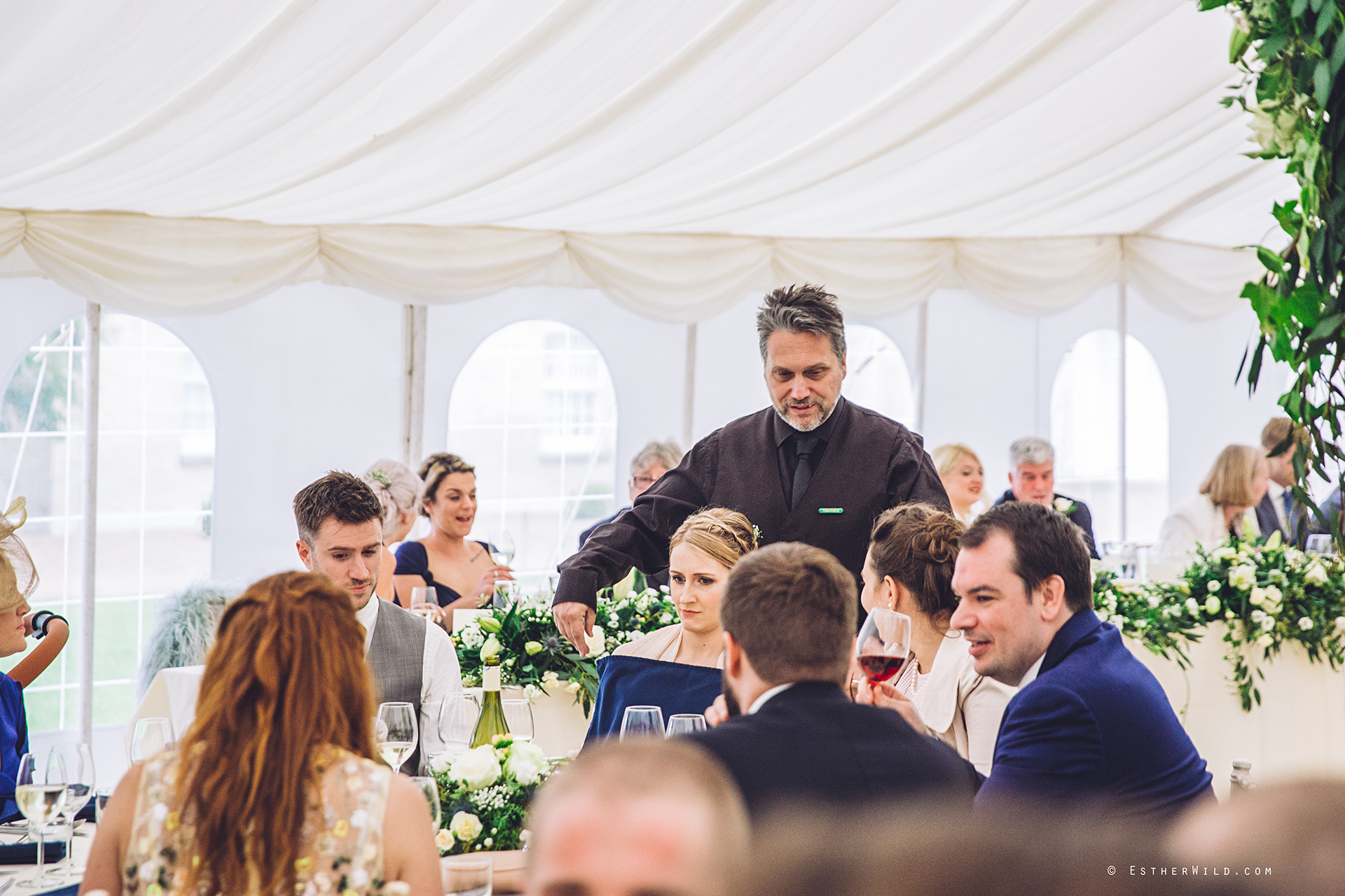 All was not as it appeared at the wedding breakfast... open the images to see what was going on...