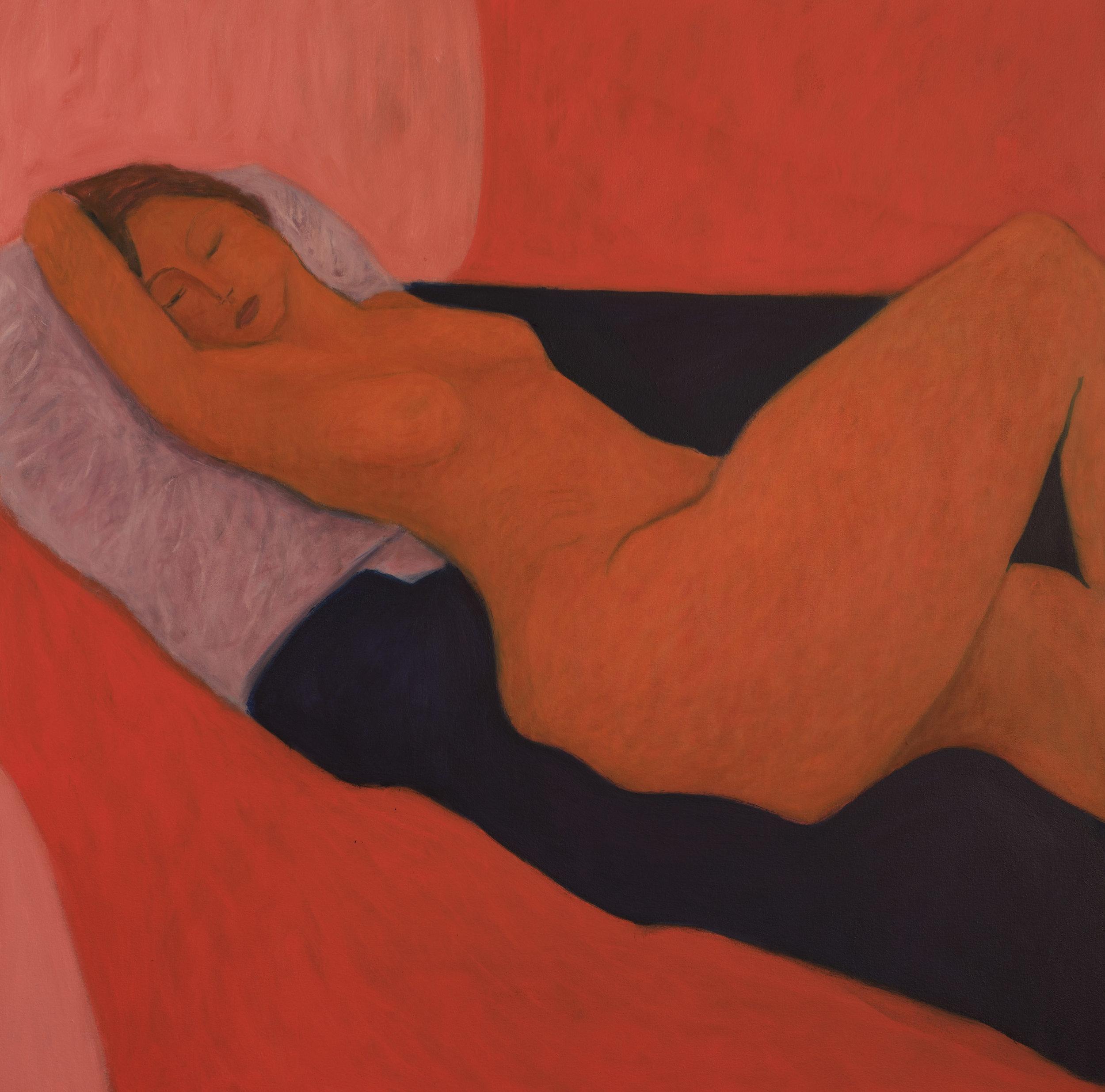 Red Hot Siesta Oil on Panel 90 x 90cm £3700.jpg