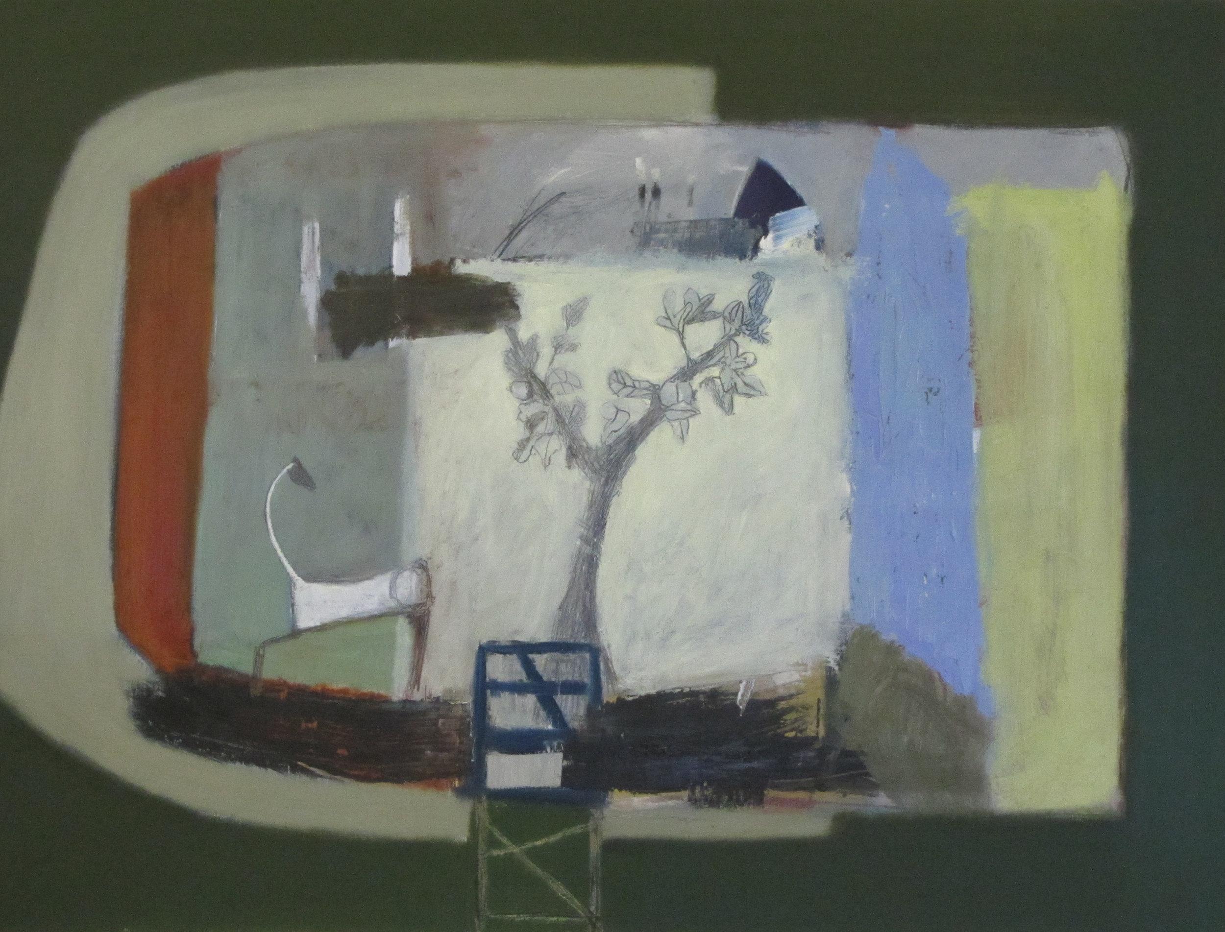 Graphite Tree -Horse of Chalk  Oil-Graphite on Panel 61X81cm £1900.jpg