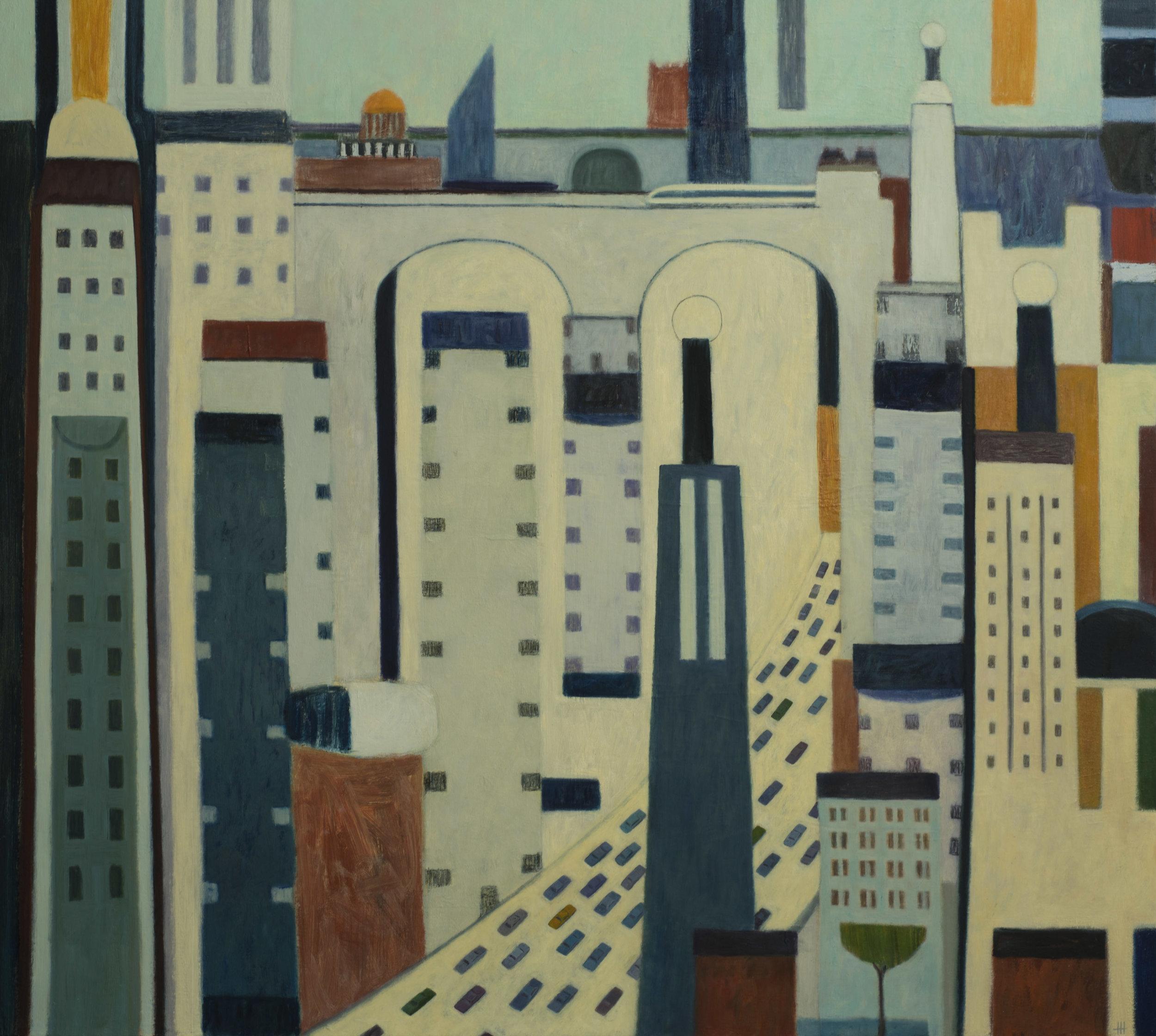 Taxi!! Oil on Canvas 90 x 100 cm