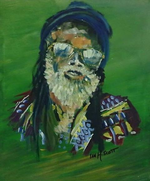 Ian's striking painting