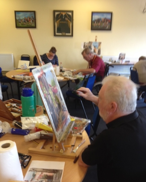 Palette knife work this week 23rd July. Next week pastel sunset with Ian.
