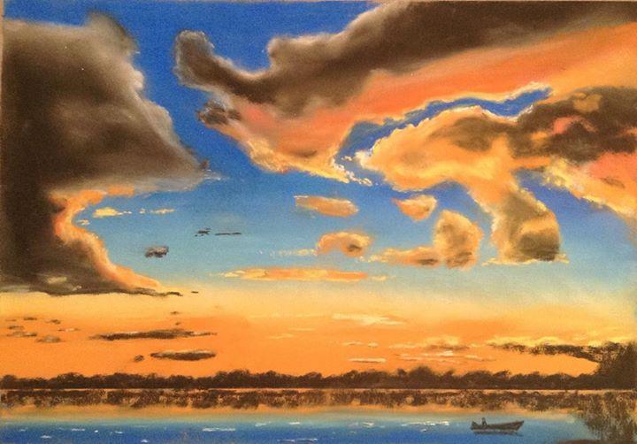 Tony's beautiful sunset in pastel