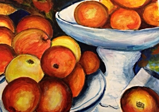 Jan's super painting colourful and bright still life.