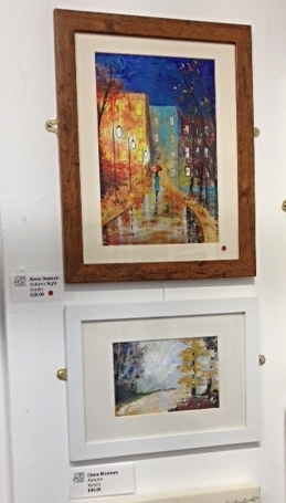 Diane and Anna entered paintings in the Frodsham Art Exhibition.  So far Anna has sold one!!