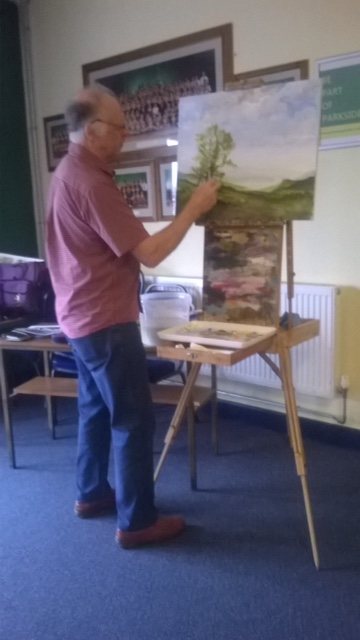 Steve Williams demonstrating landscapes