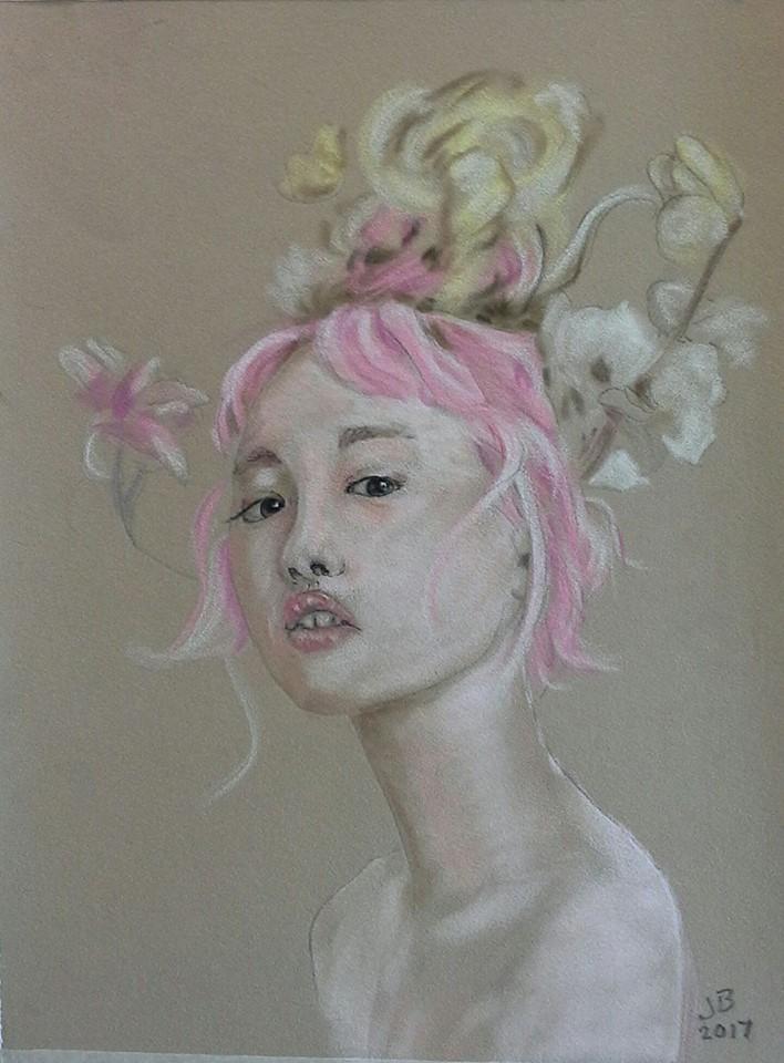 Girl in Pastel.