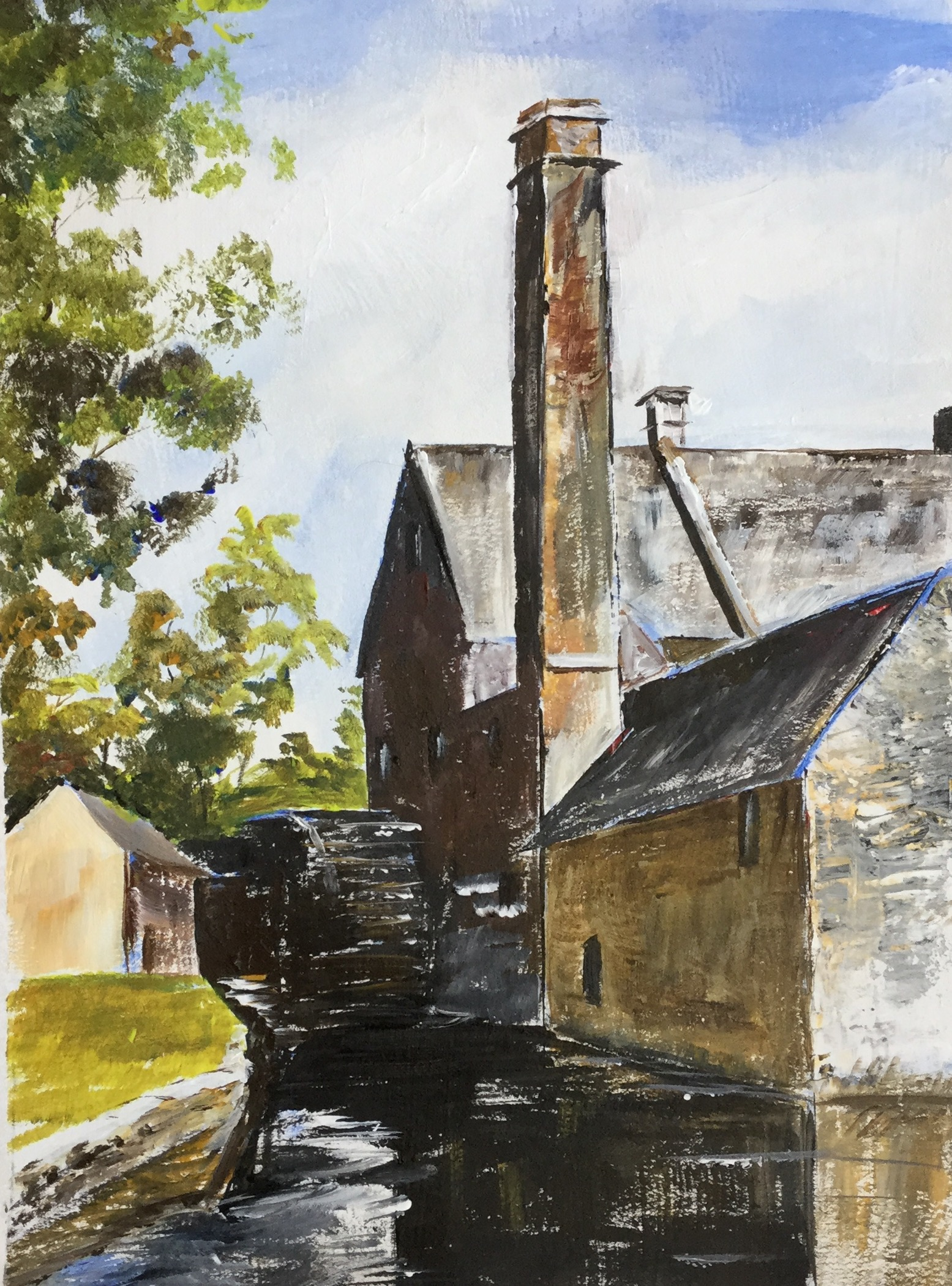 Water Mill. Cotswold - Acrylic