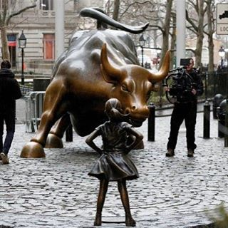 """""""Staring down the 28-year-old Wall Street """"Charging Bull"""" statue, she's a potent symbol of female leadership in business, and of the need for companies everywhere to get more women on their boards and into other powerful positions—for reasons not just symbolic but practical, as companies with gender-diverse leaders simply perform better financially"""""""