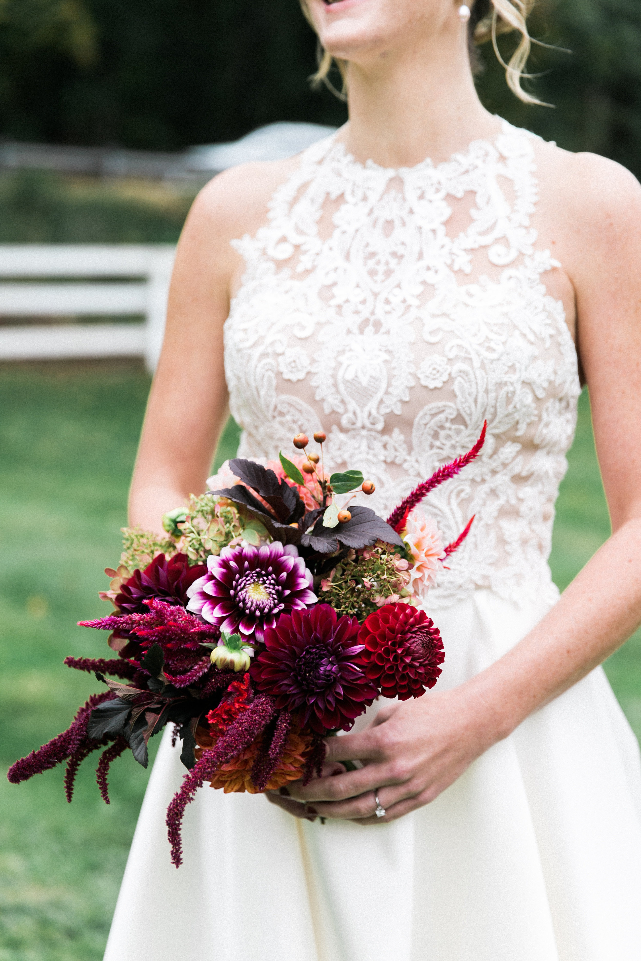 Taryn and Sharon were married on the family farm in Avon, Connecticut. Photo by Brigham and Co Photography.