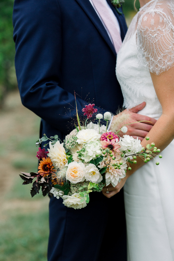 Kate requested a petite bouquet in a sophisticated blush palette. Photo by Amma Rhea Photography.
