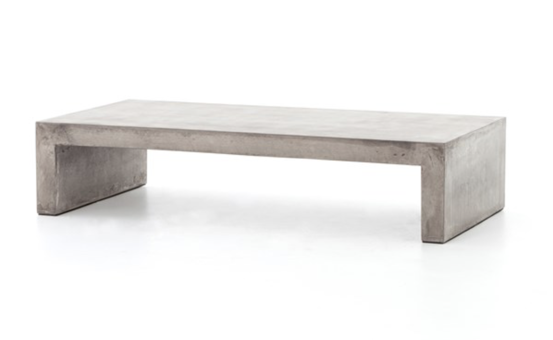 PARISH COFFEE TABLE-GREY CONCRETE
