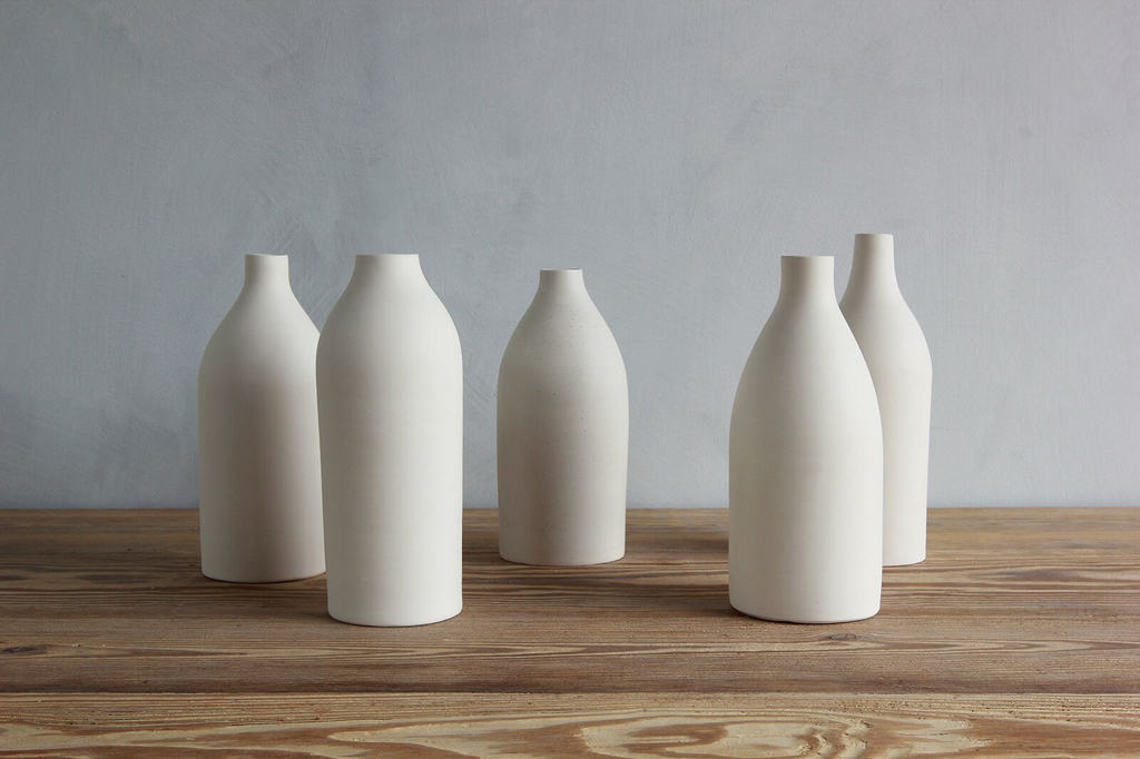 TRACIE HERVY FOR NICKEY KEHOE TALL STONEWARE BOTTLE