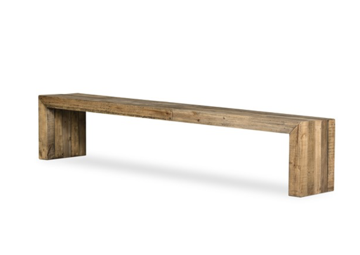 RUSKIN BENCH-RUSTIC NATURAL