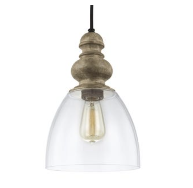 Feiss 1-light Driftwood / Dark Weathered Zinc Pendant