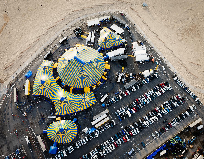 Aerial View of Cirque du Soleil