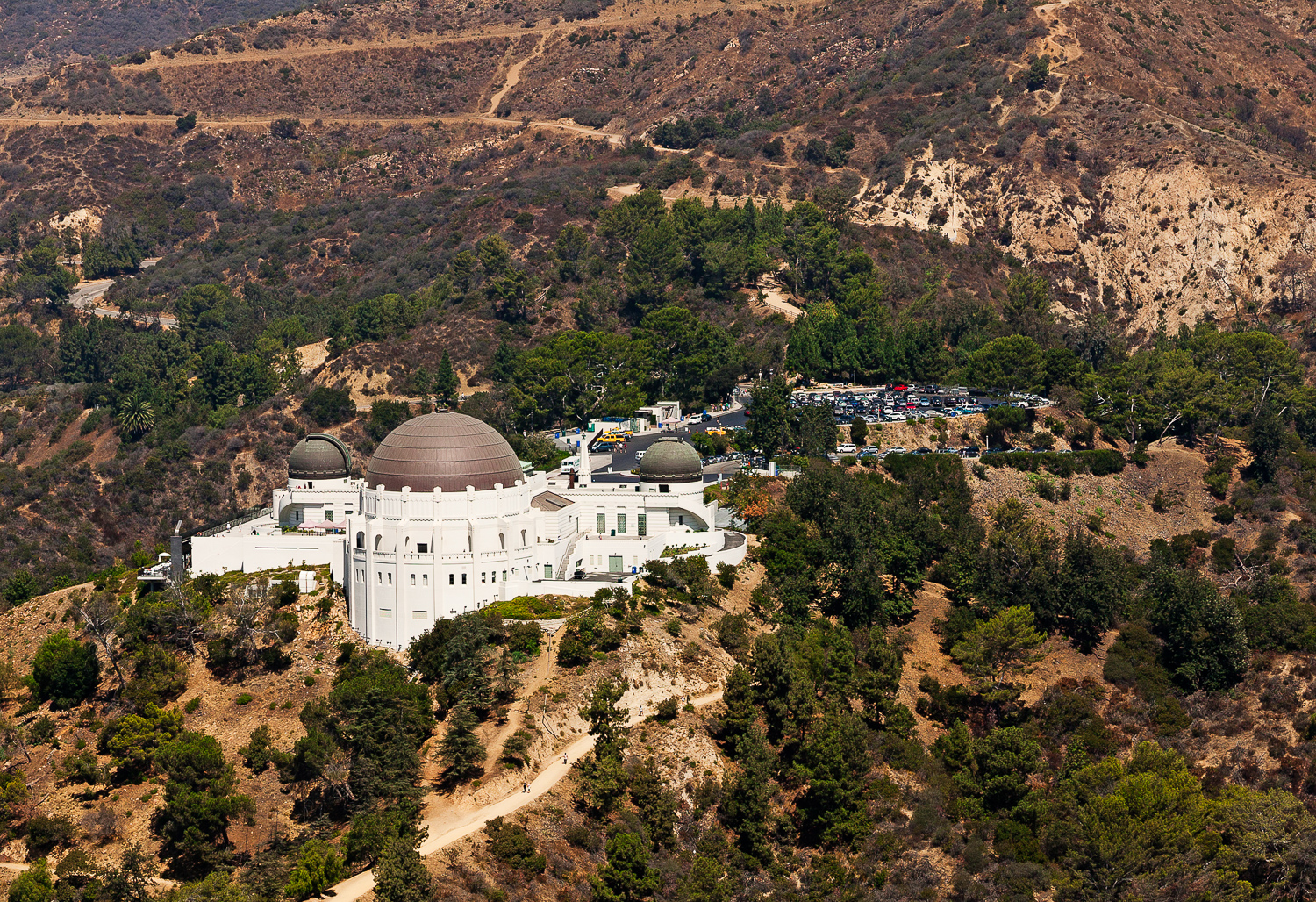 Aerial View of Griffith Observatoy